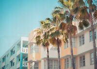 A1 South Beach Miami Poster Art Print 60 x 90cm 180gsm - Art Florida Gift #16517