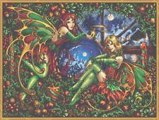 Large Christmas Fairy Counted Cross Stitch Kit - Fantasy - UK - Yuletide - Goth