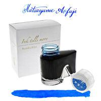 Bungubox Hatsuuyme Aofuji - Blue Bottled Ink Fountain Pens 30mL NEW