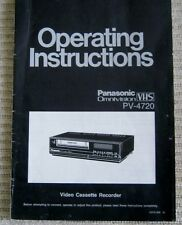 New listing Panasonic Omnivision Vhs Pv-4720 Operating Instructions