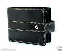 Starhide Mens High Quality Luxury Soft VT Black Leather Wallet Gift Boxed 1120