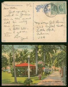 Mayfairstamps Jamaica 1945 Myrtle Bank Hotel to US Linen Postcard wwp79069