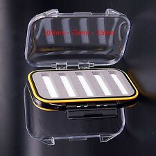 Small Pocket Sized Clear View Double Sided Waterproof Slotted Fly Boxes