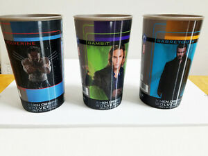 Wolverine Origins Slurpee 7-Eleven 3 Lenticular Morphing 3D Cups Marvel