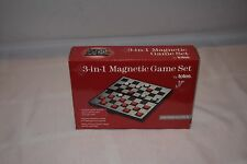 Travel Magnetic Game Set by Totes Checkers, Chess, and Backgammon Board Games