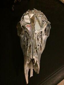 Blinged Out Shabby Chic Animal Skull Home Decor
