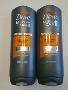 Lot 2 Dove Sport Care Endurance Comfort Micro Moisture Hydrating Body Wash 18 Oz