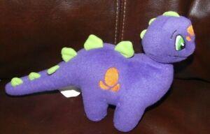 """Neopets Chomby Purple Orange Dino Collectible Stuffed #13766 10"""" Long  Plush"""
