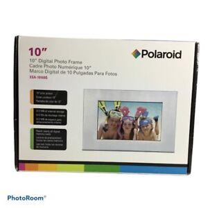 "Polaroid 10"" Digital Photo Frame Color Screen Silver Metal XSA-10169S 512MB"