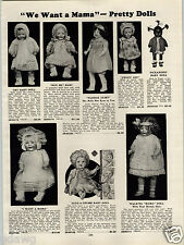 1931 PAPER AD Ideal Dolls Flossie Flirt Negro Black Girl Metalcraft Zeppelin Kit
