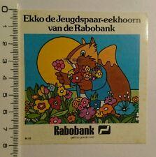 Aufkleber/Sticker: Rabobank ekko de Jeugdspaar eekhoorn (090716118)