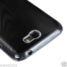 Samsung Galaxy Note II 2 BRUSHED ALUMINUM BACK COVER HYBRID CASE BLACK