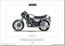 YAMAHA XS 750 - Motorcycle Fine Art Print - 1976 Triple