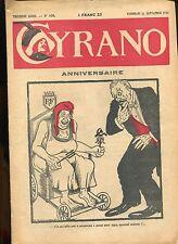 CYRANO .SATIRIQUE HEBDOMADAIRE .N°639 de 1936. ANNIVERSAIRE.LE MYSTERE POLONAIS