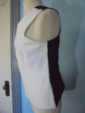 YOANA BARASCHI Size L NWT$189 White Stretch camisole blouse tank  Made USA