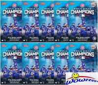 (10) 2016 Topps Chicago Cubs World Series CHAMPIONS Sealed Hanger Box Sets!