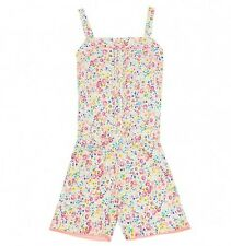 Playsuit Baby & Girls NEW ex M&S Pintuck Floral  Ages 12-18 - 6-7 Summer Outfit