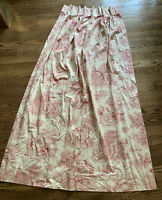 Victorian French Country Style Pleated Curtain 72x24.5
