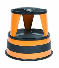 Cramer Kik Step Rolling Step Stool, Holds Up To 350 lbs, In Orange Zest 1001-30