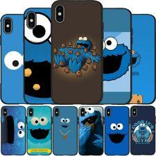 Cubierta de silicona suave con dibujos Cookie Monster Negro Teléfono Estuche de TPU para iPhone 6 6