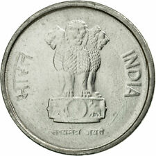 [#584160] Coin, INDIA-REPUBLIC, 10 Paise, 1996, AU(55-58), Stainless Steel