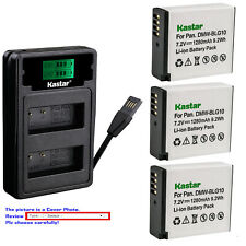 Kastar Battery LCD Dual Charger for DMW-BLG10 BLG10E & Panasonic Lumix DMC-GX7K