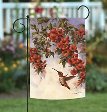 NEW Toland - Hovering Hummingbirds - Flying Bird Spring Flower Garden Flag