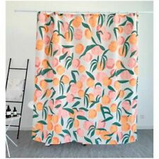 Shower Curtain with Colorful Peach Pattern Shower Curtain for Bathtub Fresh Feel