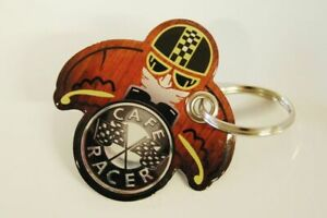 Keychain Resin Compatible With Motorcycle - Style Wood Pilot Cafe Racer
