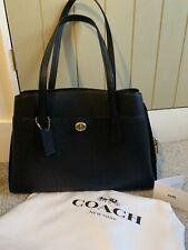 Coach Lora Black Leather Carryall Tote Handbag *used once* RRP £395