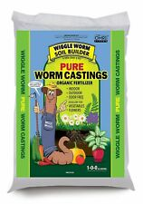 Wiggle Worm Soil Builder Earthworm Castings Organic Fertilizer, 15 lb.