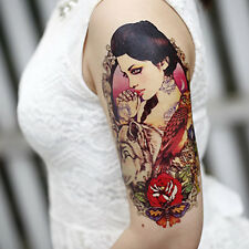 Waterproof Spray Temporary Tattoos Large Arm Fake Transfer Tattoo Stickers Sexy