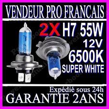 ampoule h7 55w halogene au xenon a gaz white en 6500k 12v
