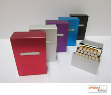 ☆ Zigarettenbox - ALU 21 regular oder long size 100 Zigarettenetui Aluminium Box