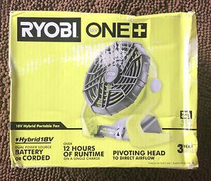 Ryobi One + Cordless Portable 18 Volt Hybrid Fan (P3320) Brand New Shop Fan