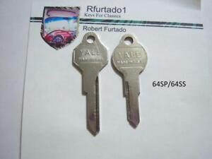 Key Blanks for Vintage Studebaker 1964 - 1965,  Avanti 1964 up  (64SP/64SS)
