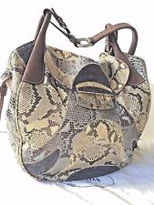5K PRADA MULTICOLORED SNAKESKIN PYTHON  SHOULDER BAG.