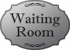 """Waiting Room"" elegant office door sign, medical office sign  - Free Shipping"
