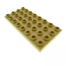 1 x Lego Duplo Bau Platte 4 x 8 hell beige tan 8 x 4 Noppen 4x8 für Set 3772 377