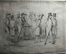 New Listing1839 lLithograph - The Thimble Rig - Shell Game - Scarce Original Print