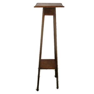 """Art Nouveau Pedestal Table Plant Flower Stand Side Table Two Tier Art Deco 49"""""""