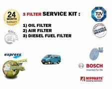 FOR TOYOTA HIACE 2.5 DT D4D 2001-> 3 PIECE SERVICE KIT OIL AIR FUEL 3 FILTER SET