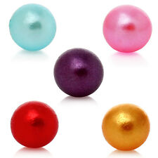 500 MIXED COLOUR ROUND PEARL ACRYLIC~NO HOLE~BEADS/BALLS~3mm~Sewing~Crafts~(10D)
