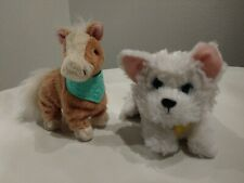 FurReal Friends Butterscotch My Walkin' Pony Pet & Dog moving paws Lot Of 2
