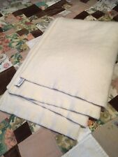 "CLASSIC ""BRONTE"" CREAM WOOL BLANKET 62"" x 86"""