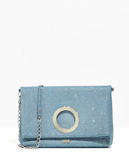 Anillo Azul Nali Detalle Sobre Bolso sin asas Bolso de hombro Noche Diseño Italiano