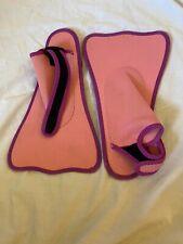 Swim Fins Pink w Purple Trim Youth L-XL