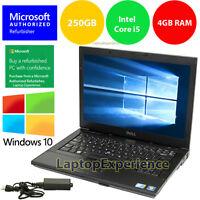DELL LAPTOP WINDOWS 10 PC Core i5 2.4Ghz 4GB RAM WiFi DVDRW NOTEBOOK 250GB HD