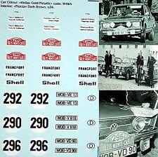 VW Volkswagen K70 Rallye Monte Carlo 1971 #290 #292 #296 - 1:87 Decal Abziehbild