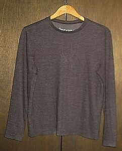SPYDER LONG SLEEVE CREW NECK BLACK COTTON STRETCH PULLOVER SHIRT TOP MENS SMALL